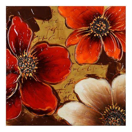 Spice Floral Canvas Art Print Flores Abstractas