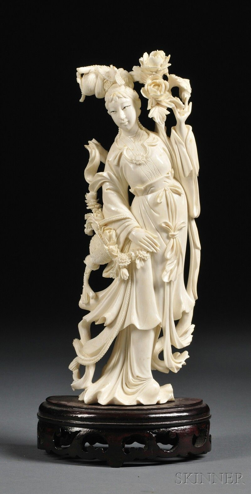 Ivory carving china th century standing figure