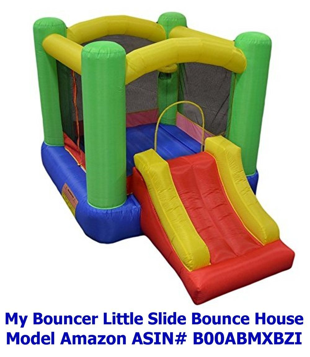 "New Improved - My Bouncer Little Castle Bounce 118"" L x 78"" W x 72"" H Ball  Pit Bopper w/ Slides & Ball Hoop - Phthalate Free Puncture Resist Nylon  Material ..."