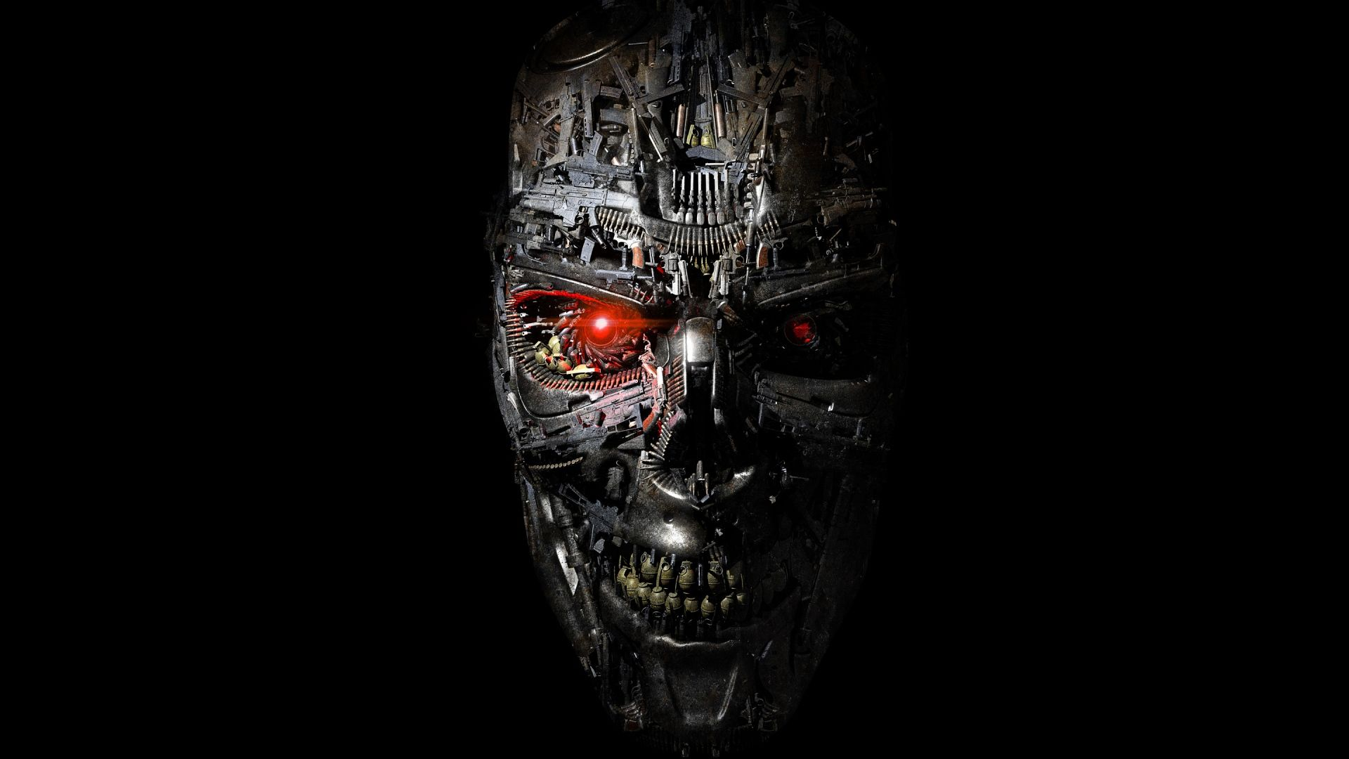 Full Hd 1080p Terminator Wallpapers Hd Desktop Backgrounds Robot Wallpaper Black Art Painting 4k Wallpaper For Mobile