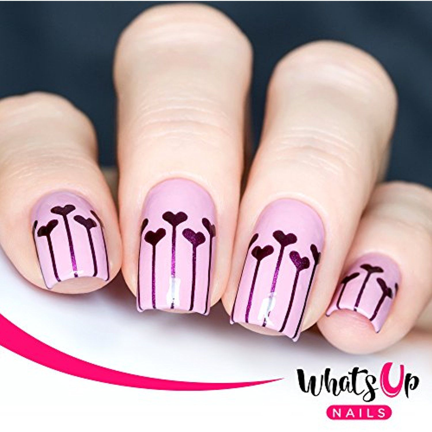 Whats Up Nails - Balloons Nail Stencils Stickers Vinyls for Nail Art ...