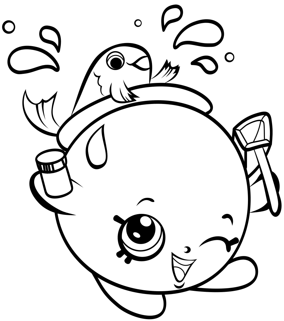 Pin by on Shopkins Coloring Pages