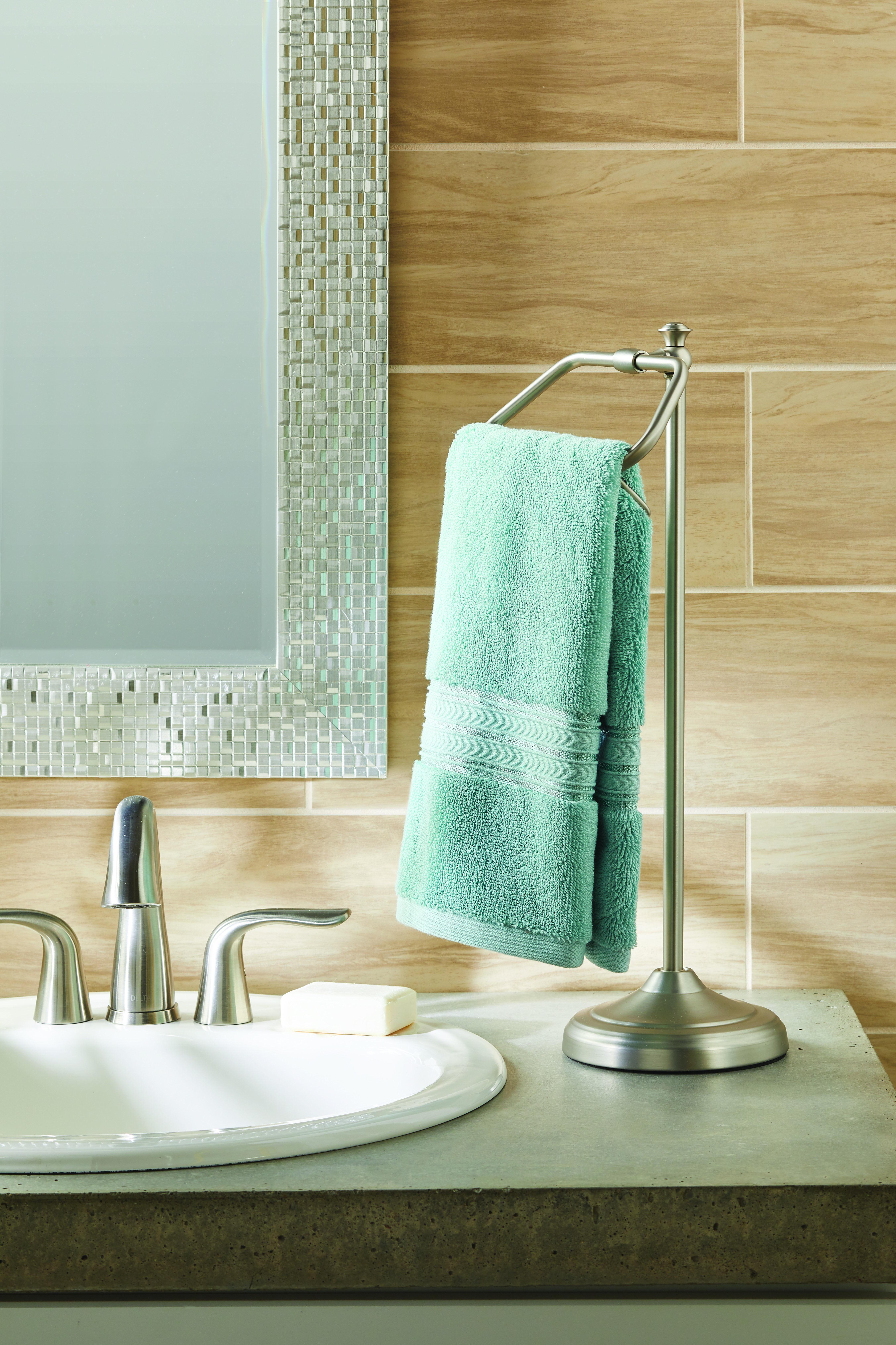 Better Homes Garden Hand Towel Holder Satin Nickel Walmart Com Bathroom Hand Towel Holder Hand Towels Bathroom Hand Towel Holder Bathroom hand towel holder