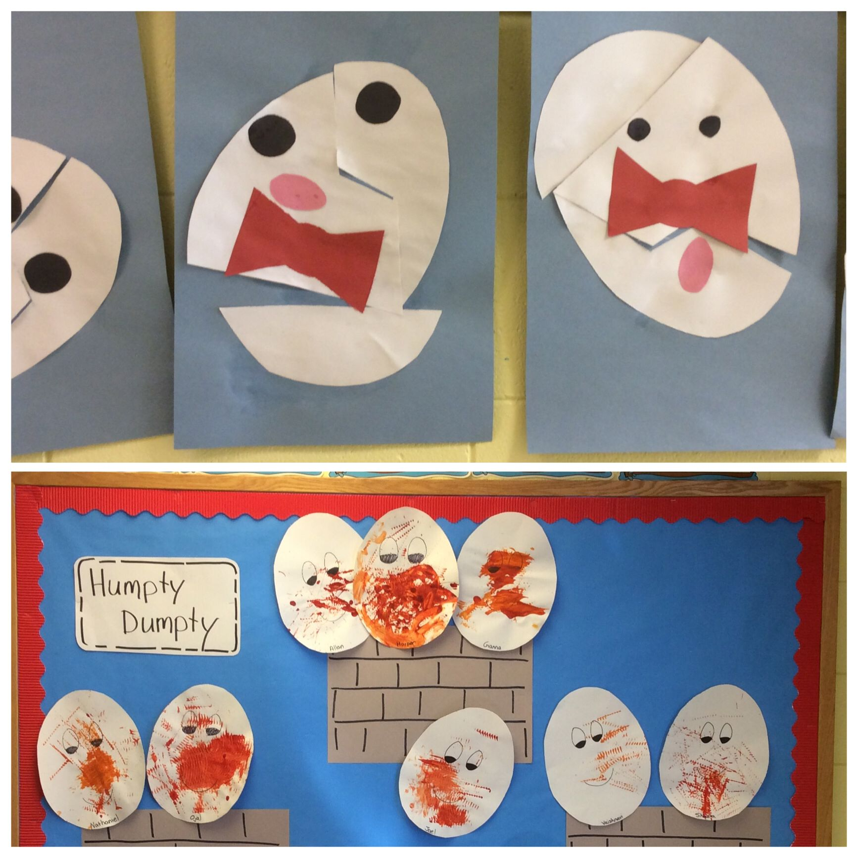 Humpty Dumpty Art One In A 3 Year Old Class And The Other