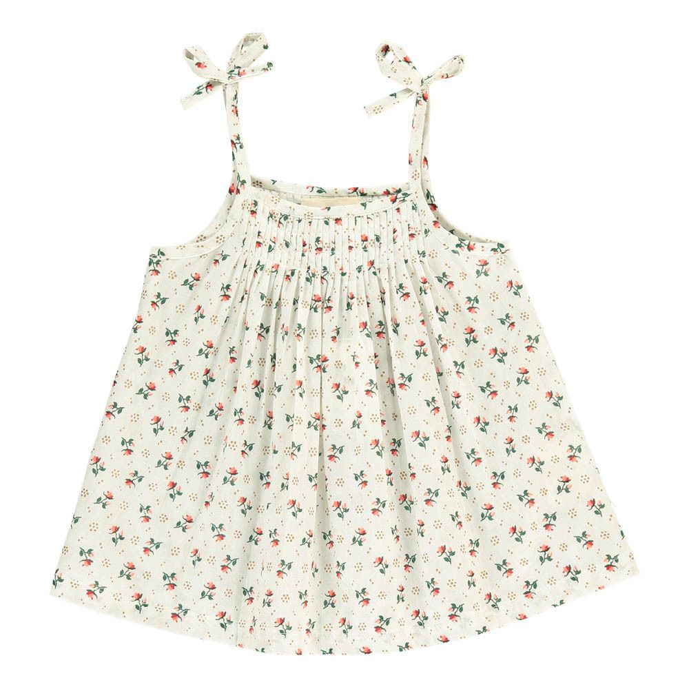 Violette Polka Dot Floral Top Le Petit Lucas du Tertre Children- A large selection of Fashion on Smallable, the Family Concept Store - More than 600
