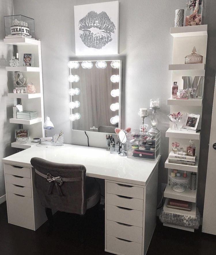 Cute Makeup Dressing Up Vanity Makeup Table Vanity Beauty Room Design