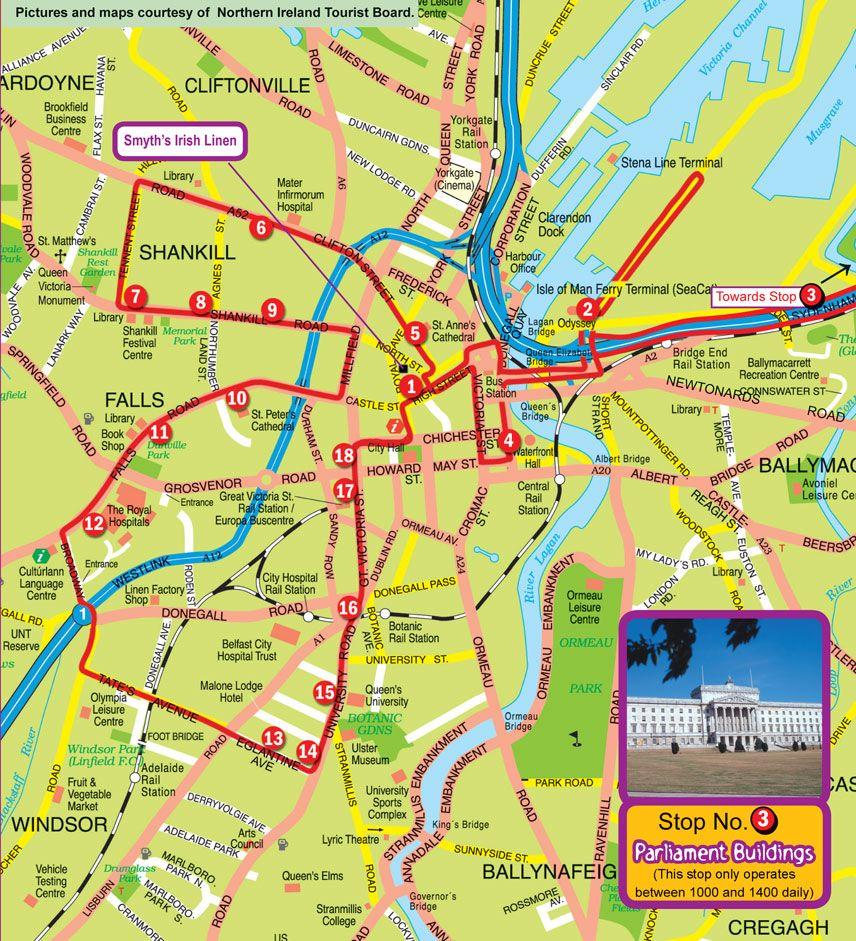 belfast map 10 PORTS A STAR Pinterest Belfast Ireland and