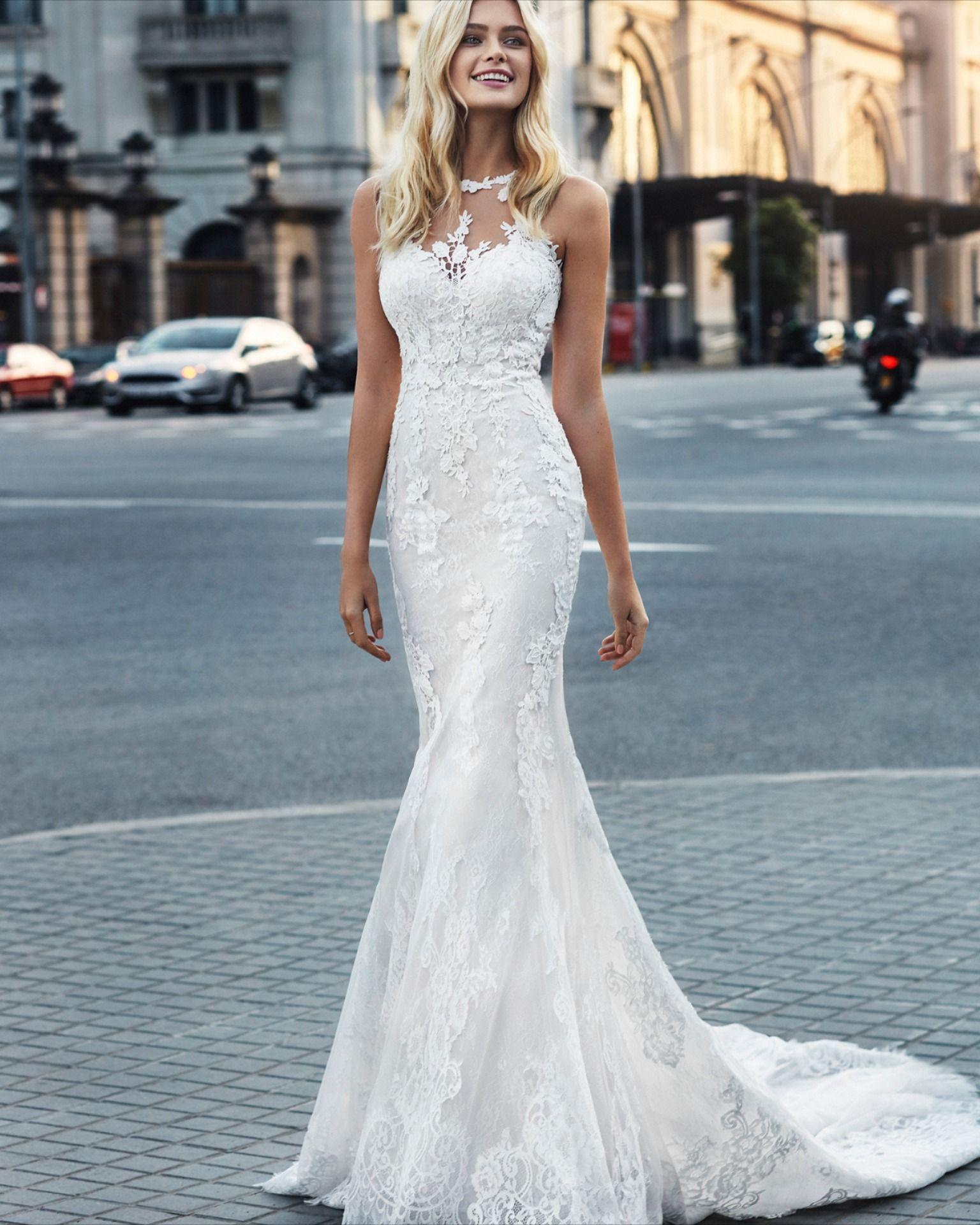 Luna Novias Varna At Unbridaled Halter Wedding Dress Lace Wedding Dresses Halter Wedding Dress [ 1920 x 1536 Pixel ]