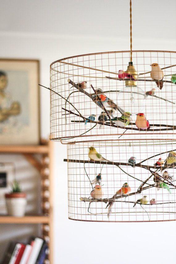 Double birdcage pendant light chandelier accesorios cosas y double birdcage pendant light chandelier aloadofball Choice Image