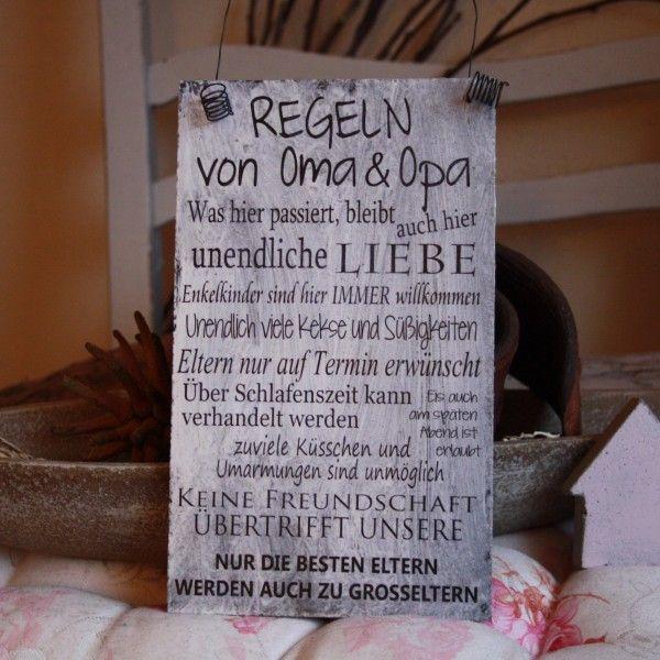 Regeln von oma opa regeln pinterest regeln omas - Weihnachtsgeschenke selber machen fa r oma und opa ...
