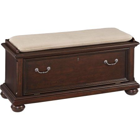Colonial Classic Queen Bed, Night Stand, Media Chest and Bench, Red