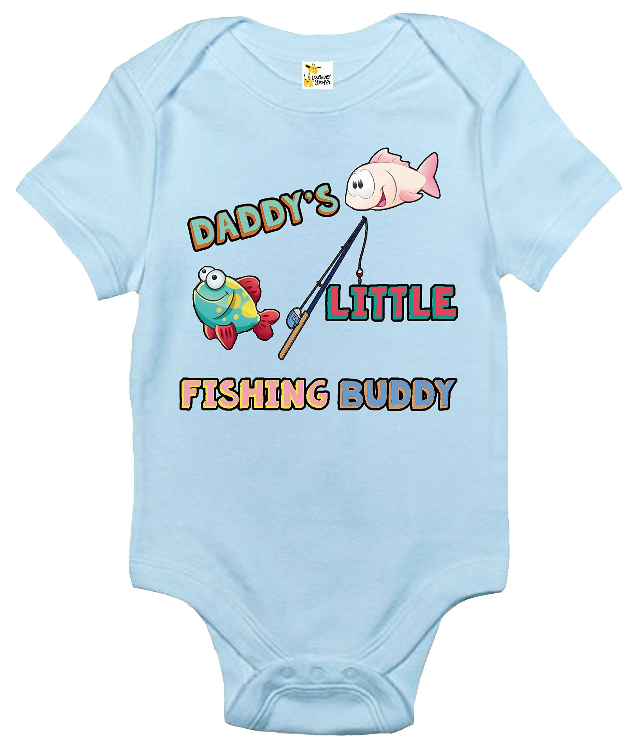 Daddy s Little Fishing Buddy Baby Bodysuit Cute Baby Clothes for