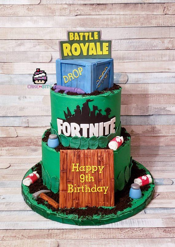 Handmade Fondant Fortnite Cake Decorations And Toppers In