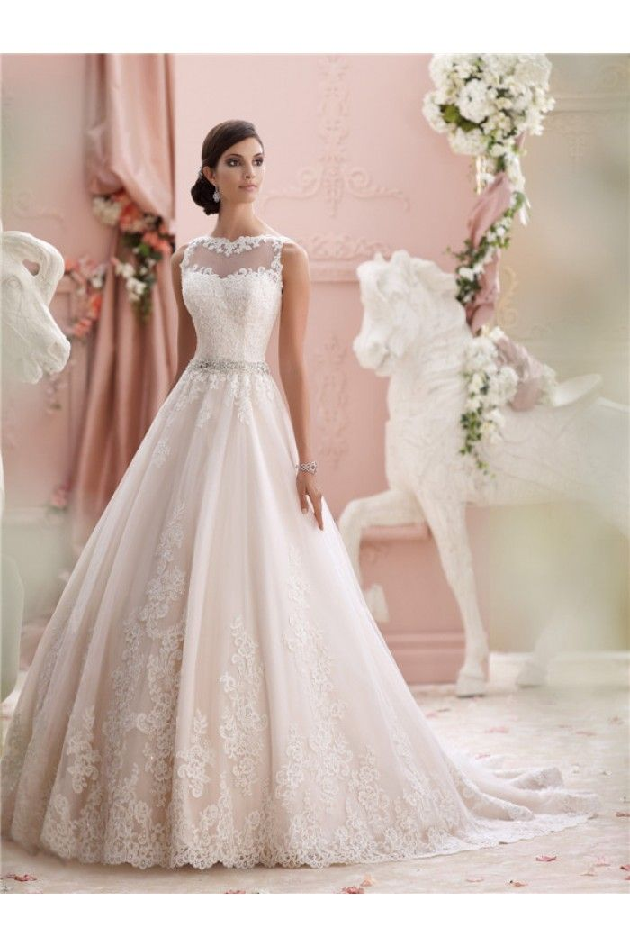 Charming ball gown high neck see through tulle lace wedding dress charming ball gown high neck see through tulle lace wedding dress junglespirit Images