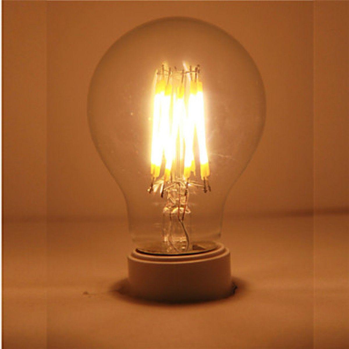 Lampadina Filamento LED 6W A60 E27 Retrò Bianco Caldo