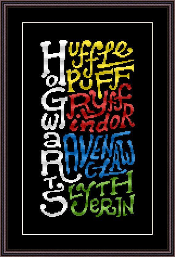 Photo of Harry Potter Funny Cross Stitch PDF Pattern Hogwarts Houses – #counting #Cross #…