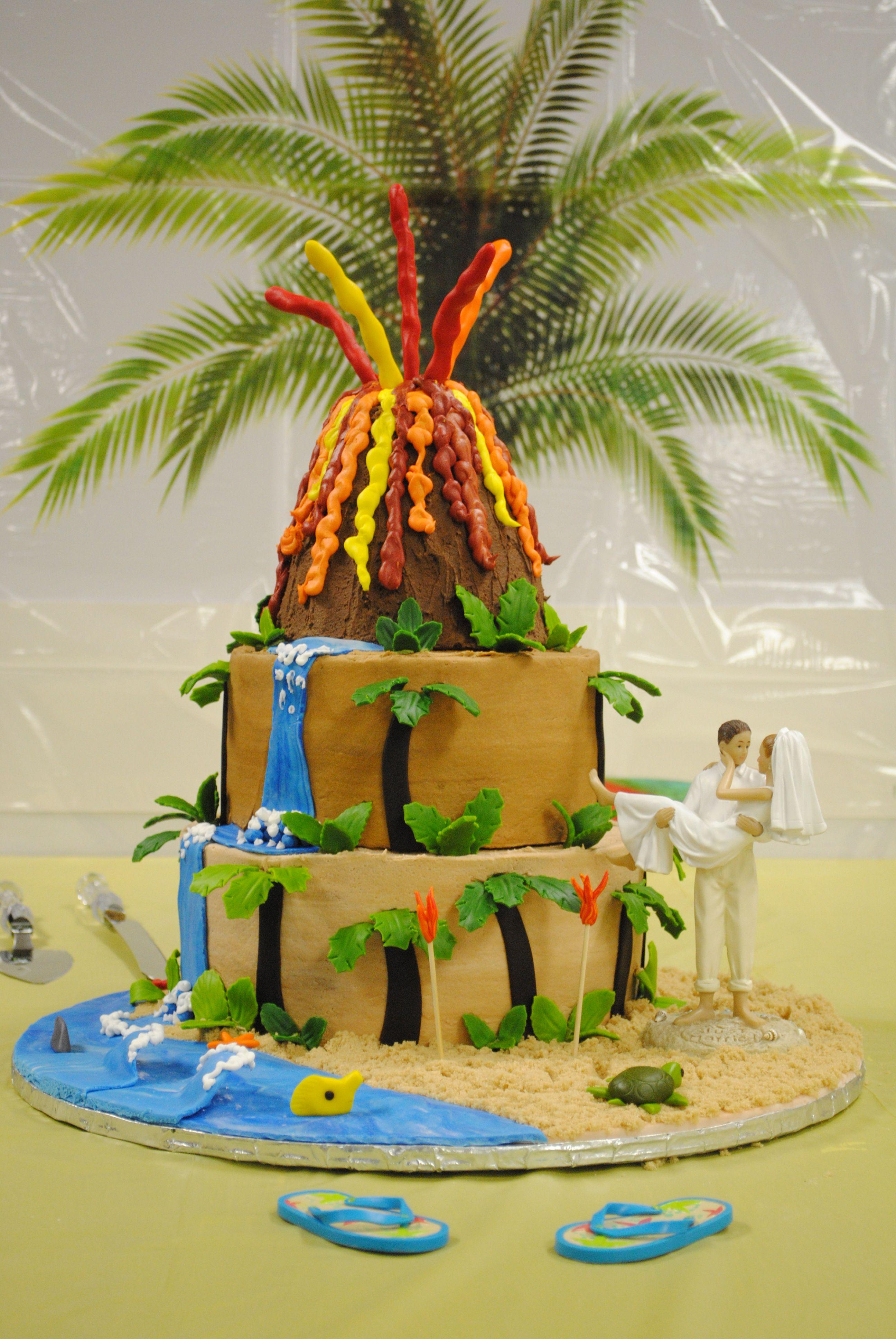 28+ Hawaiian themed wedding cake trends