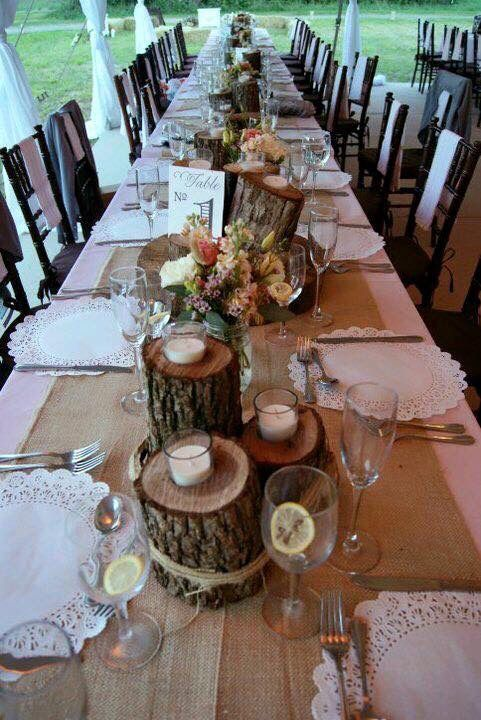 Table Decorations Rustic Wedding