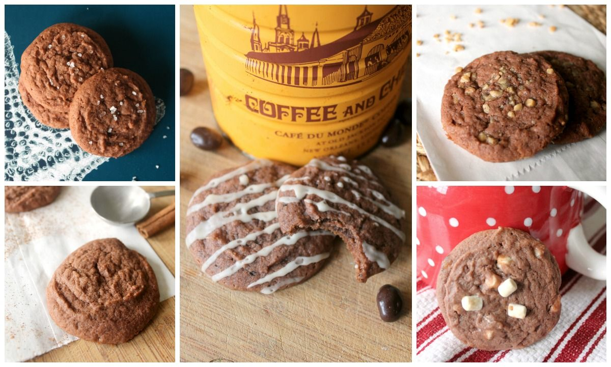 The Kitchen Prep: The Ultimate Mix & Match Cookie (Chocolate Mocha Glazed Cookies; Hot Chocolate Cookies; Chocolate Toffee Cookies; Mexican Chocolate Chili Cookies;Chocolate & Sea Salt Cookies)