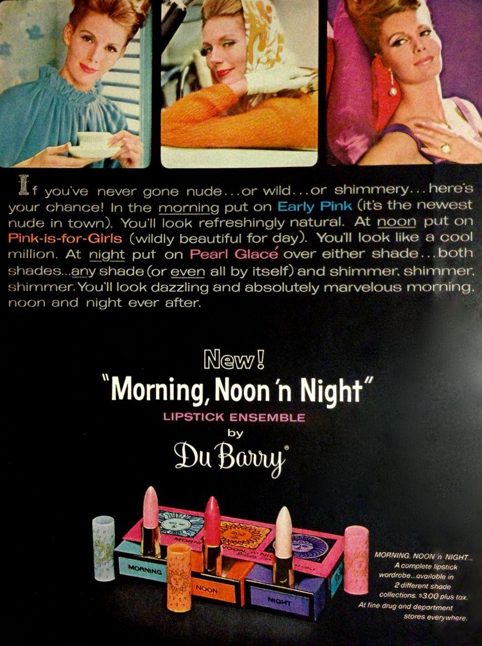Du Barry 'Morning, Noon 'n Night' Lipstick Ensemble Ad