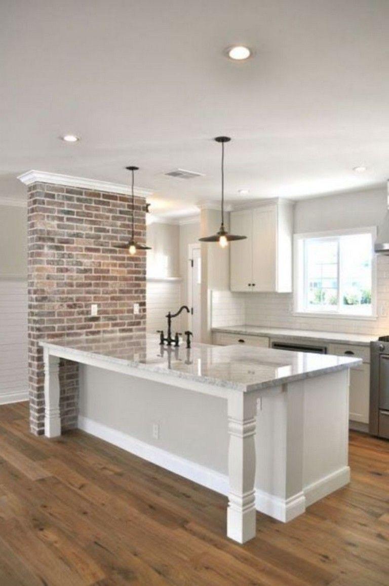 15 Gorgeous Neutral Kitchen Decor Ideas Brick Kitchen Brick