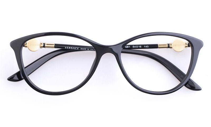 547f1f514462f Versace VE3175 Acetate Womens Cat eye Full Rim Optical Glasses for  Fashion