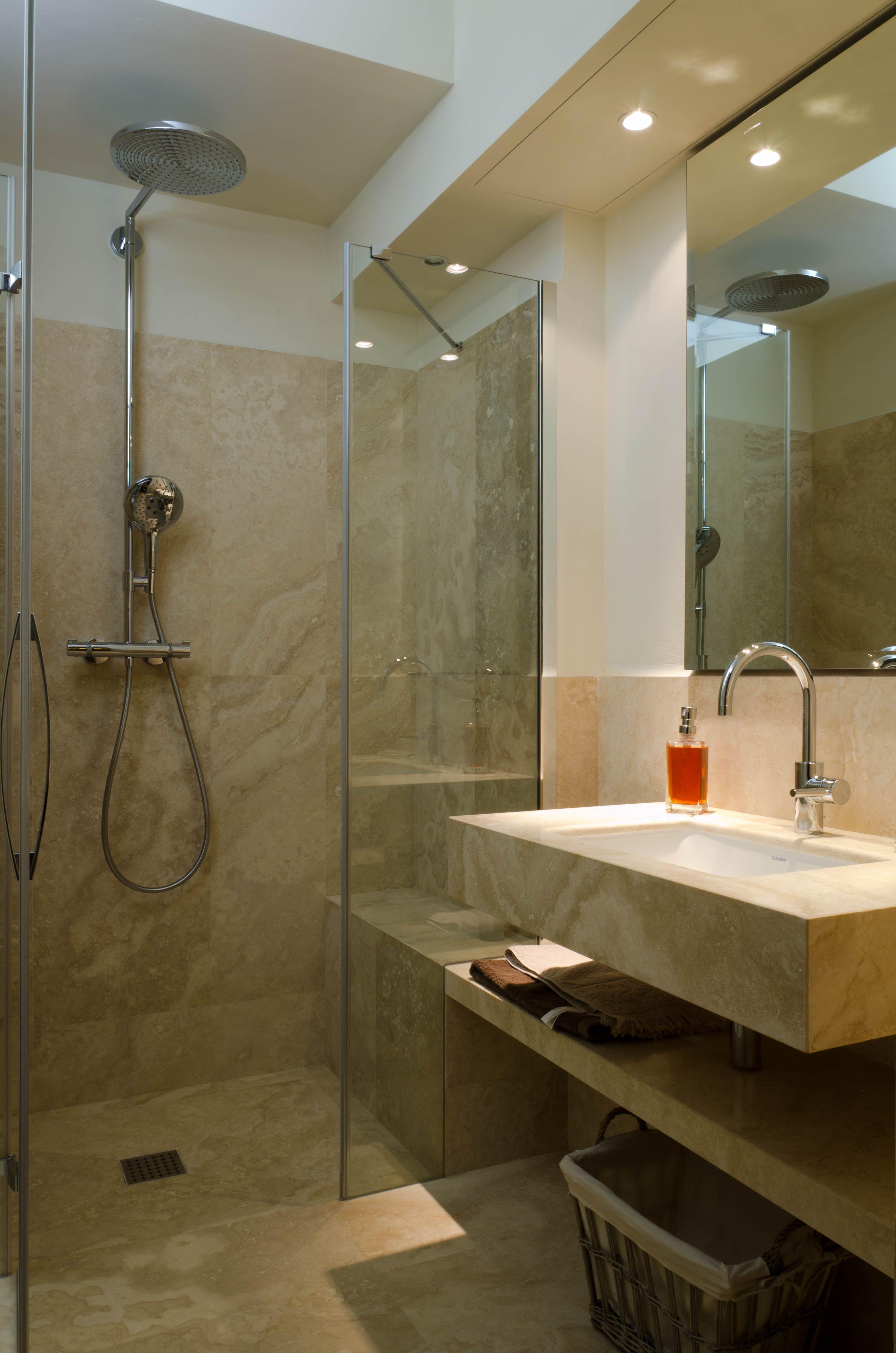 Pietre di Rapolano travertine bathroom bagno in travertino ...