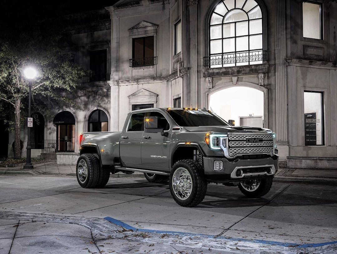 Perfection 2020 Gmc Sierra 3500hd Denali On Americanforcewheels Furyoffroadtires Innov8 Gmc New Trucks Gmc Trucks
