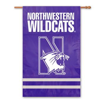 Northwestern Wildcats Banner and Scroll Sign