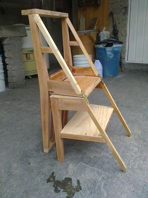 Tenes una silla vieja transformarla en escalera taringa for Silla escalera de madera
