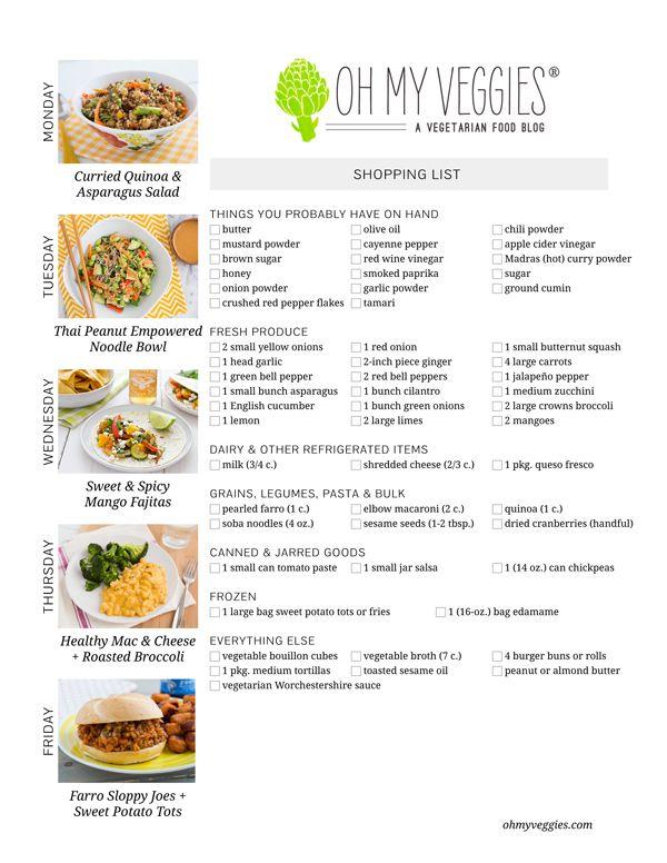 This Week S Meatless Meal Plan 3 24 14 Meatless Meals Vegetarian Meal Plan Food