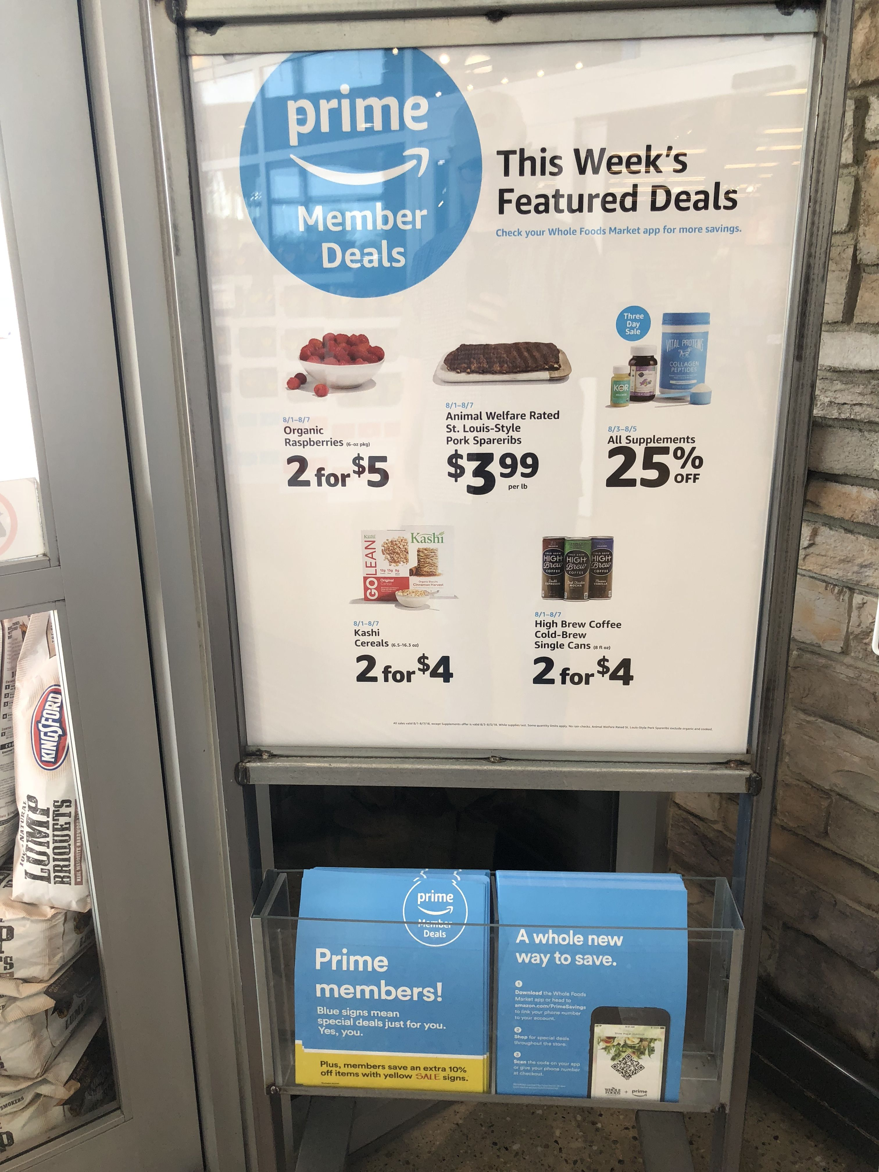 Amazon Prime member deals at Whole Foods Instore