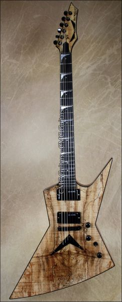Dean Guitars Usa Custom Zero Mustaine Signature Spalted Maple Guitar Dean Guitars Custom Electric Guitars