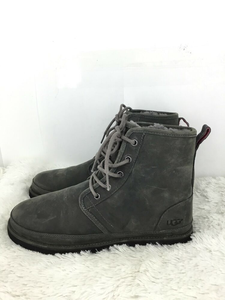 0585b4e45b5 UGG Australia Mens Harkley Plain Toe Waterproof Boot: Size 10: Gray ...