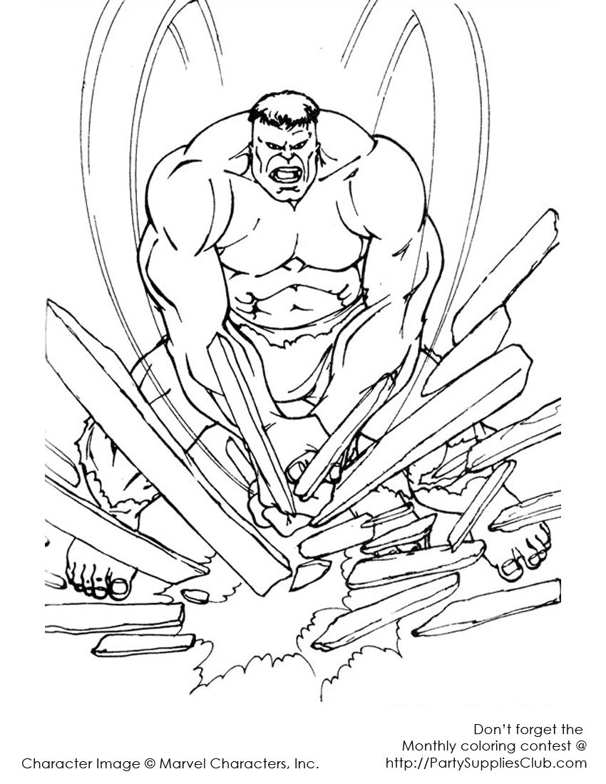 The Incredible Hulk Coloring Pages Superhero Coloring Pages