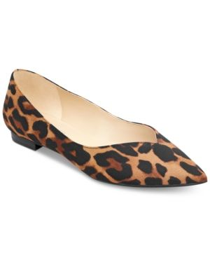 543a300403c Marc Fisher Analia Pointed-Toe Flats - Leopard 8.5M