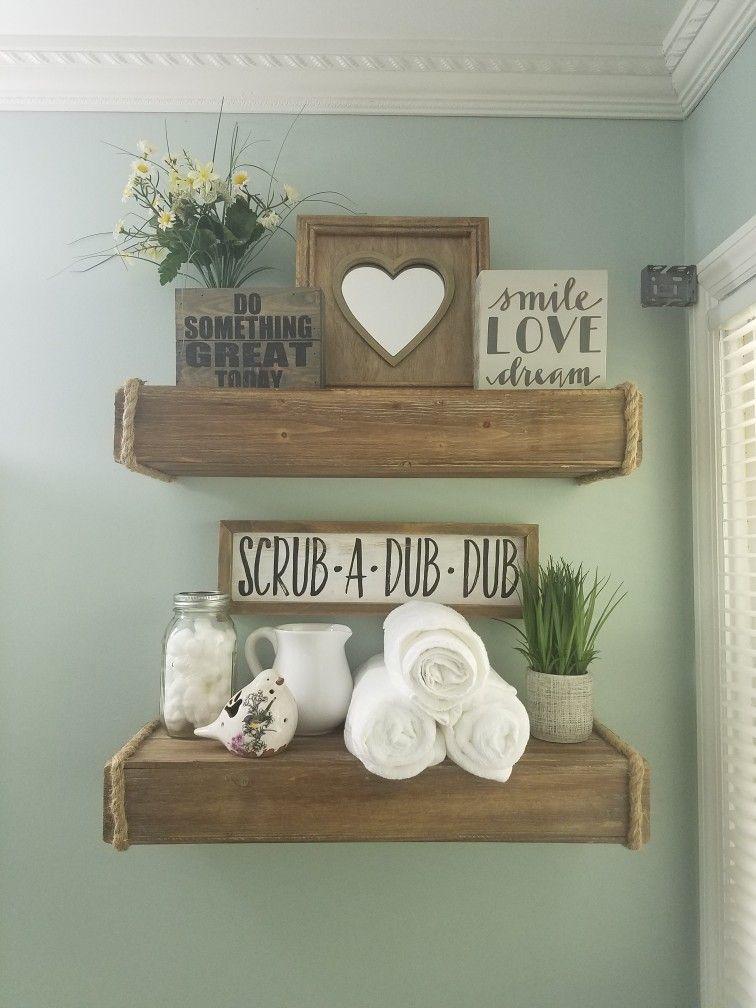 Bathroom wall shelves decoration
