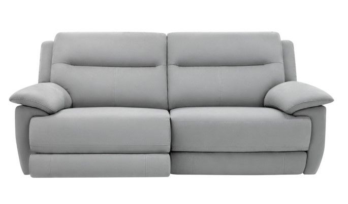 canap 3 places relax lect curtiss tissu gris pas cher prix canap but 1 06600 - Canape 3 Places Relax