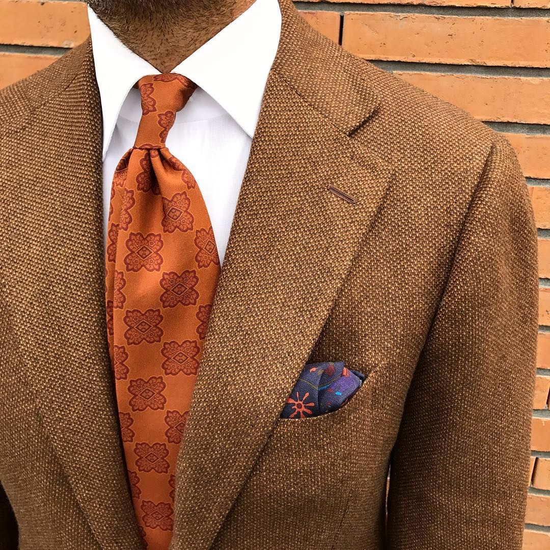 Viola Milano printed madder silk tie   handrolled Wool silk pocket  square... Shop the new collection online at www.violamilano.com photo by… 063747083796