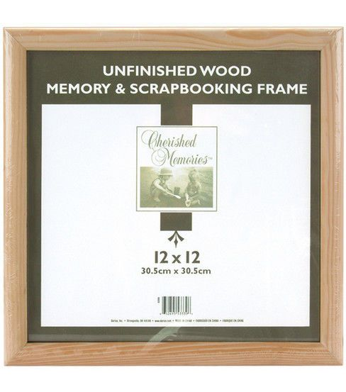 Darice Wooden Memory Frame 12x12 Unfinished In 2018 Products