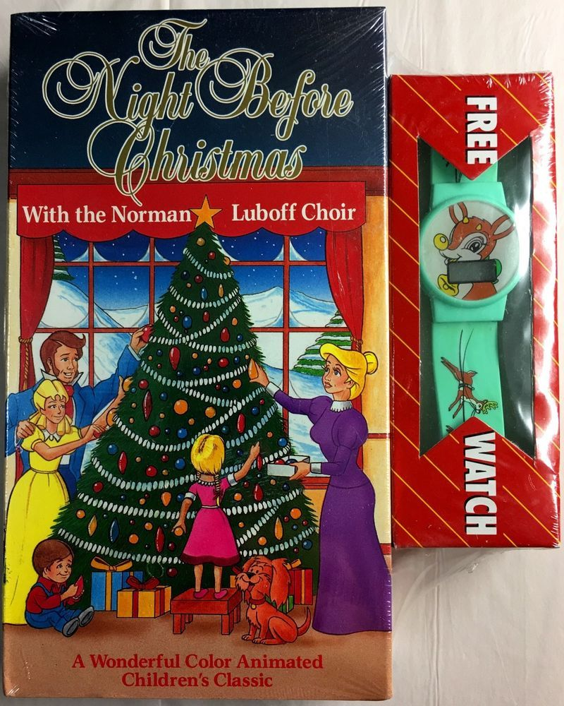 RARE The Night Before Christmas 1991 VHS The Norman Luboff Choir ...