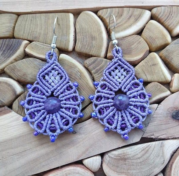 "Knyazhna Accessories on Instagram: ""Earrings with amethyst. $ 21,90 USD. Free shipping anywhere in the world! Made by @alina.knor Please order in my store on Etsy.com, link…"""