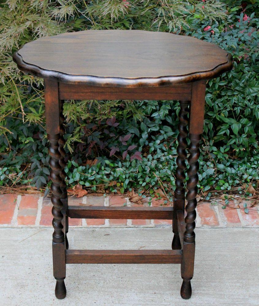 Antique english dark oak oval beveled edge barley twist end table antique english dark oak oval beveled edge barley twist end table lamp table geotapseo Choice Image