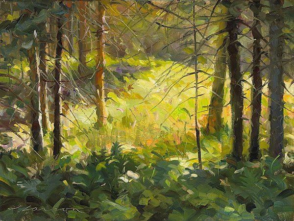 Jeffrey T Larson Wonderful American Painter Landscape Paintings Forest Painting Landscape Art