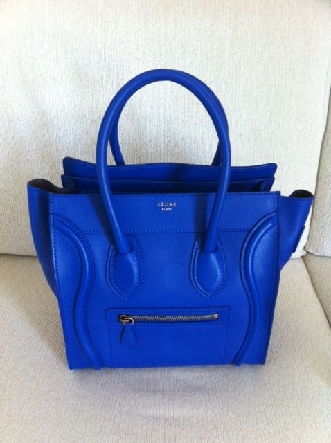 2a8d606afe Celine Micro Luggage Tote in Cobalt Blue Royal Blue