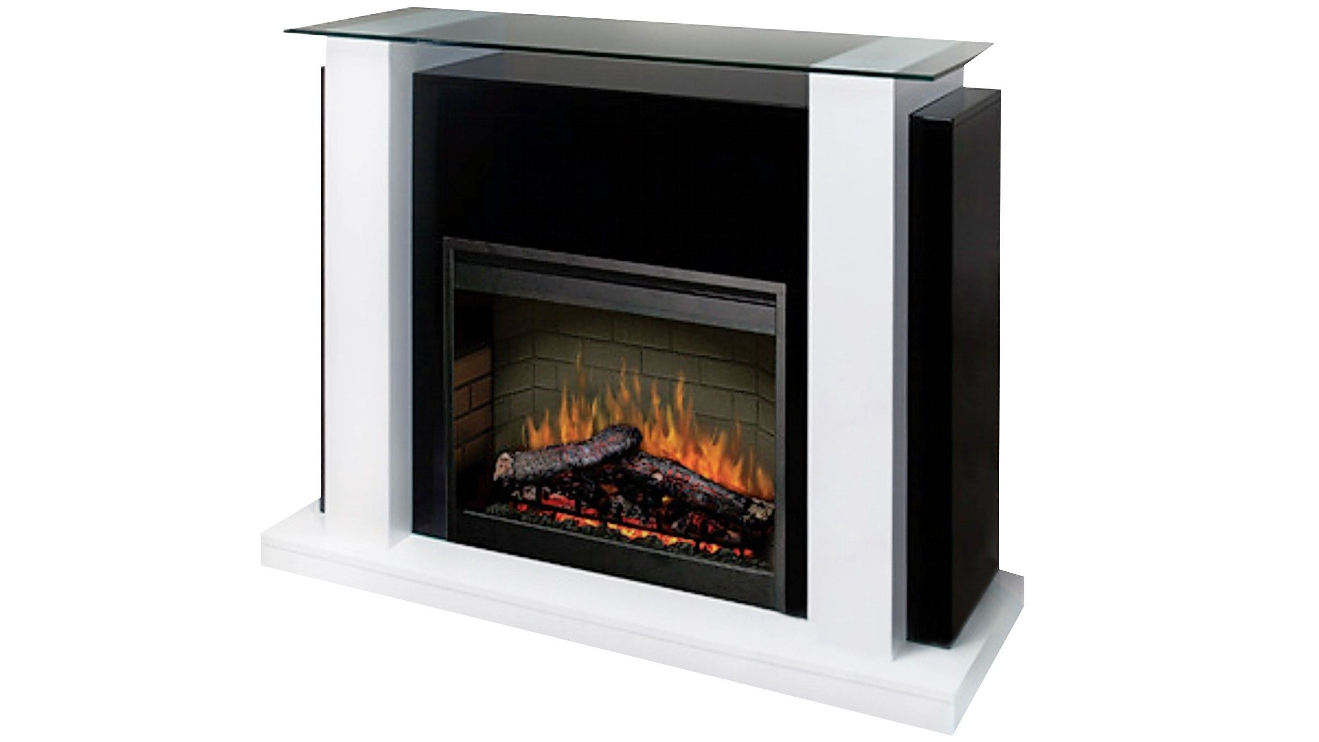 dimplex electraflame 2kw manhattan electric fire with mantle home