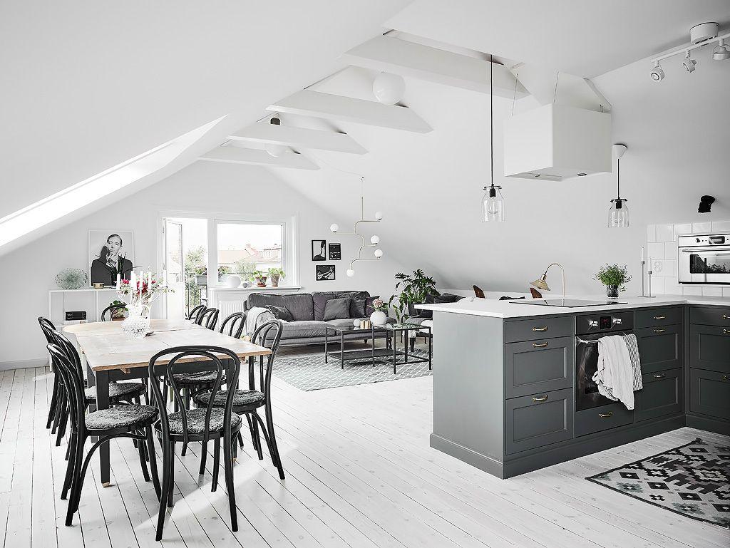 Open plan attic living space