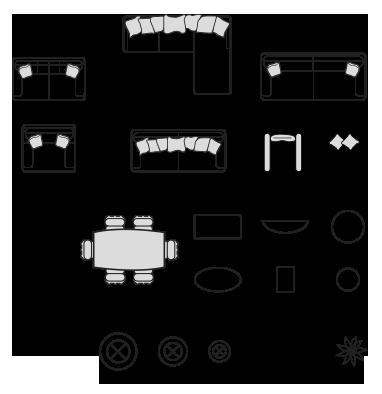 Furniture Dimensions Templates  Templates  Furnishings