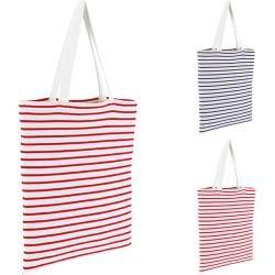 Lb02097 Sol's Bags Striped Jersey Shopping Bag Luna
