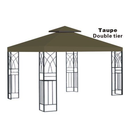 10x10u0027 Replacement Canopy Top Patio Pavilion Gazebo Sunshade Polyester Cover-Double Tier  sc 1 st  Pinterest & 10x10u0027 Replacement Canopy Top Patio Pavilion Gazebo Sunshade ...